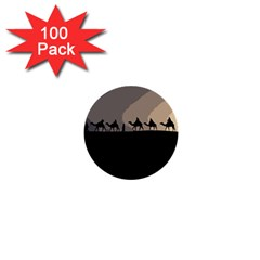 Caravan  1  Mini Buttons (100 Pack)