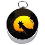 Giraffe  Silver Compasses Front