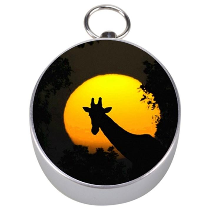 Giraffe  Silver Compasses