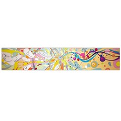 Drawing Multicolored Light  Flano Scarf (large)