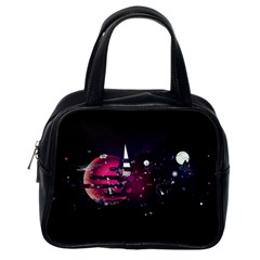 Fragments Planet World 3840x2400 Classic Handbags (one Side)