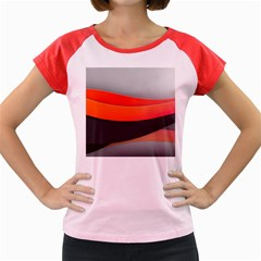 Line Shape Light  Women s Cap Sleeve T Shirt