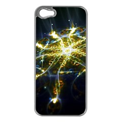 Surface Pattern Light  Apple Iphone 5 Case (silver)