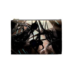Connection Shadow Background  Cosmetic Bag (medium)