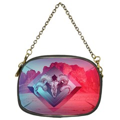 Horns Background Cube  Chain Purses (one Side)