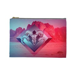 Horns Background Cube  Cosmetic Bag (large)