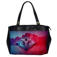 Horns Background Cube  Office Handbags