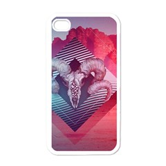 Horns Background Cube  Apple Iphone 4 Case (white)