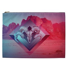 Horns Background Cube  Cosmetic Bag (xxl)