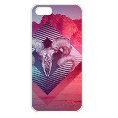 Horns Background Cube  Apple Iphone 5 Seamless Case (white)