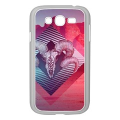 Horns Background Cube  Samsung Galaxy Grand Duos I9082 Case (white)