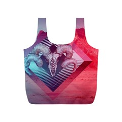 Horns Background Cube  Full Print Recycle Bags (s)