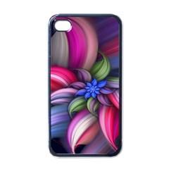 Flower Rotation Form  Apple Iphone 4 Case (black)
