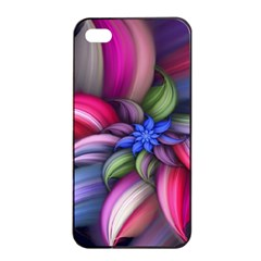 Flower Rotation Form  Apple Iphone 4/4s Seamless Case (black)