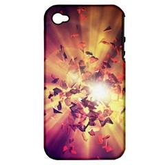 Shards Explosion Energy  Apple Iphone 4/4s Hardshell Case (pc+silicone)