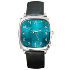Volume Pattern Abstract Square Metal Watch