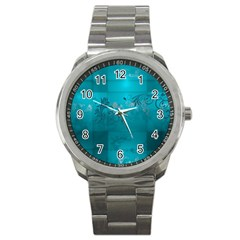 Volume Pattern Abstract Sport Metal Watch