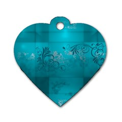 Volume Pattern Abstract Dog Tag Heart (two Sides)
