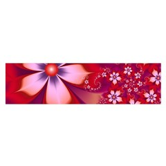 2480 Flowers Petals Red 3840x2400 Satin Scarf (oblong)