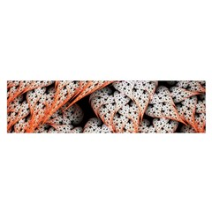 Dots Leaves Background  Satin Scarf (oblong)