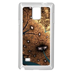 Line Pattern Shape  Samsung Galaxy Note 4 Case (white)