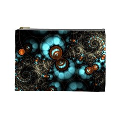 Spiral Background Form 3840x2400 Cosmetic Bag (large)