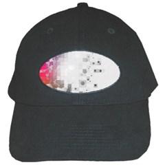 Squares Colorful Spots  Black Cap