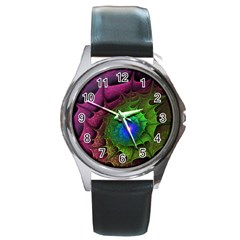 Immersion Light Color  Round Metal Watch