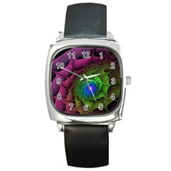 Immersion Light Color  Square Metal Watch