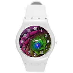 Immersion Light Color  Round Plastic Sport Watch (m)