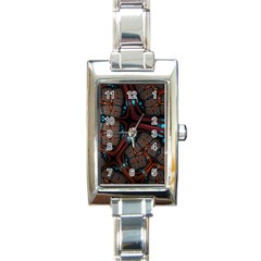 Surface Grid Lines  Rectangle Italian Charm Watch