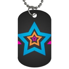 Star Background Colorful  Dog Tag (two Sides)