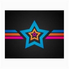 Star Background Colorful  Small Glasses Cloth