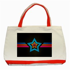 Star Background Colorful  Classic Tote Bag (red)