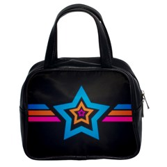 Star Background Colorful  Classic Handbags (2 Sides)