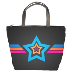 Star Background Colorful  Bucket Bags