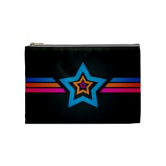 Star Background Colorful  Cosmetic Bag (medium)