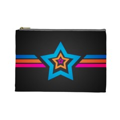 Star Background Colorful  Cosmetic Bag (large)