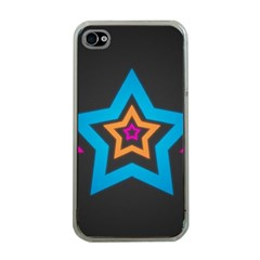 Star Background Colorful  Apple Iphone 4 Case (clear)