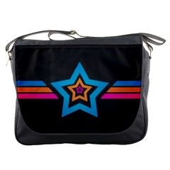 Star Background Colorful  Messenger Bags