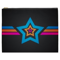 Star Background Colorful  Cosmetic Bag (xxxl)
