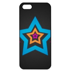 Star Background Colorful  Apple Iphone 5 Seamless Case (black)