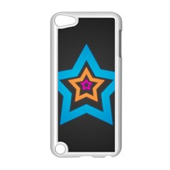 Star Background Colorful  Apple Ipod Touch 5 Case (white)