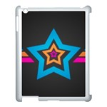 Star Background Colorful  Apple iPad 3/4 Case (White) Front