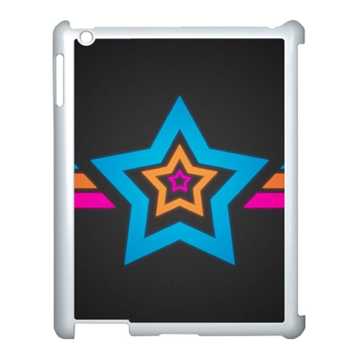 Star Background Colorful  Apple iPad 3/4 Case (White)
