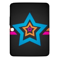 Star Background Colorful  Samsung Galaxy Tab 3 (10 1 ) P5200 Hardshell Case