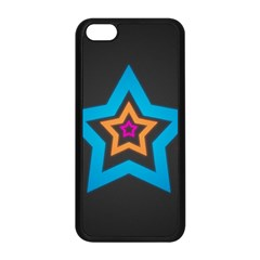 Star Background Colorful  Apple Iphone 5c Seamless Case (black)