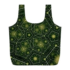 Shape Surface Patterns  Full Print Recycle Bags (l)