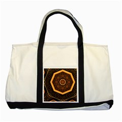 Light Surface Lines  Two Tone Tote Bag