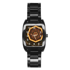 Light Surface Lines  Stainless Steel Barrel Watch